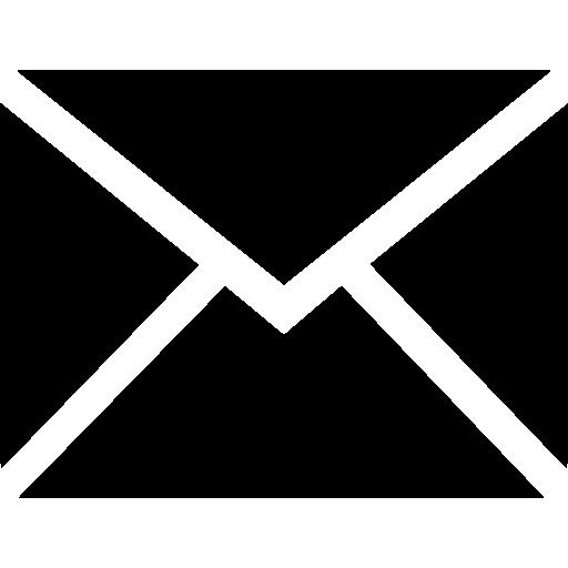 nouveau symbole d'enveloppe arrière noire d'email de l'interface  Icône gratuit