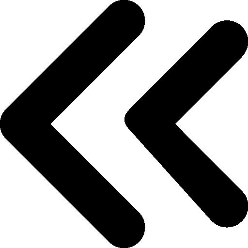 symbole de double flèches gauche  Icône gratuit