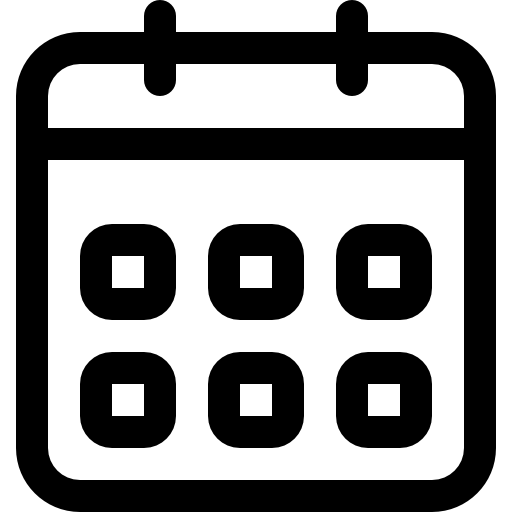 Weekly calendar outline event interface symbol  free icon