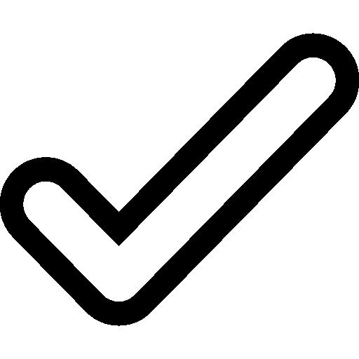 contorno de marca de verificação  grátis ícone