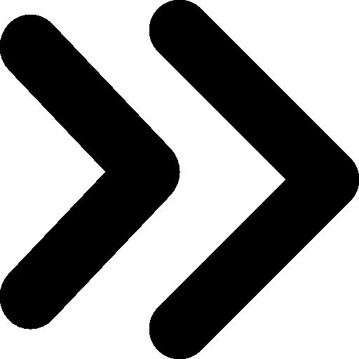 Fast forward double right arrows symbol  free icon