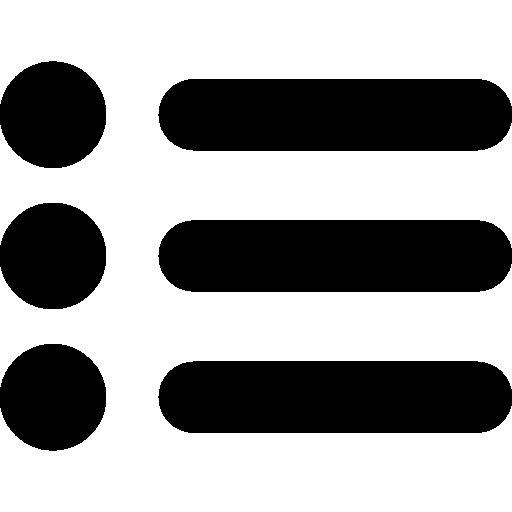 symbole d'interface de liste  Icône gratuit