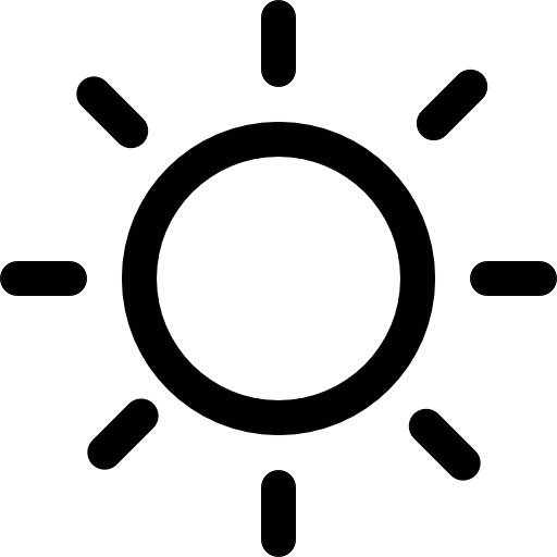 Sun day weather symbol  free icon