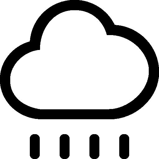 Символ контура облака погоды дождя с линиями капель дождя  бесплатно иконка