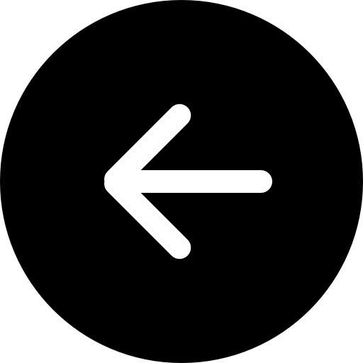flèche gauche en symbole noir bouton circulaire  Icône gratuit