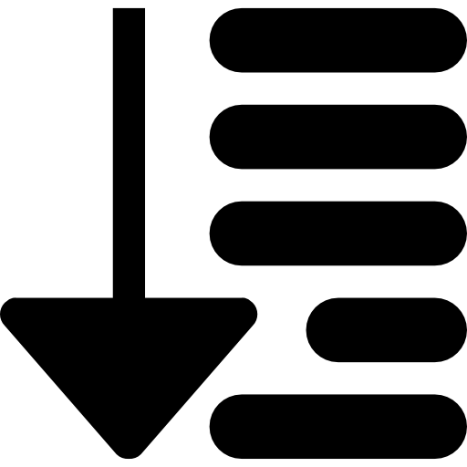 ordenar símbolo de interfaz  icono gratis