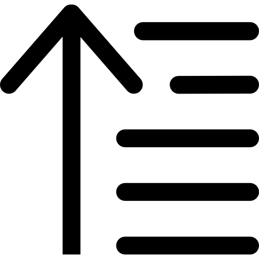 orden ascendente  icono gratis