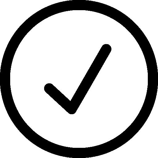 Checkmark verify interface symbol button  free icon