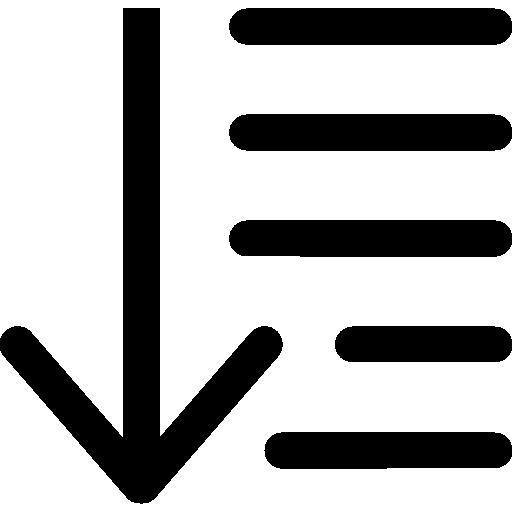 orden descendiente  icono gratis