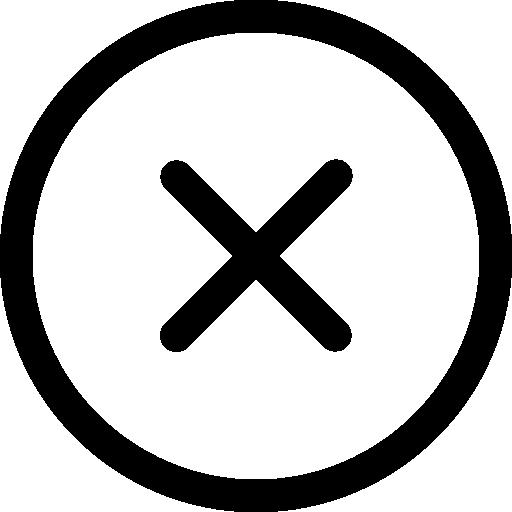 Close circular button symbol  free icon