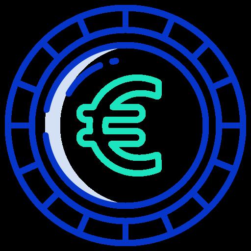Euro coin  free icon