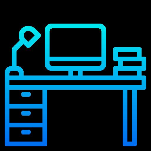 Office desk  free icon