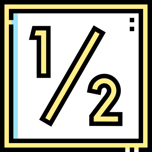 Half  free icon