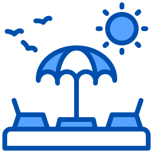 Beach chair  free icon