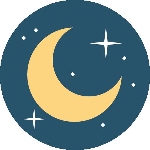 Half moon  free icon