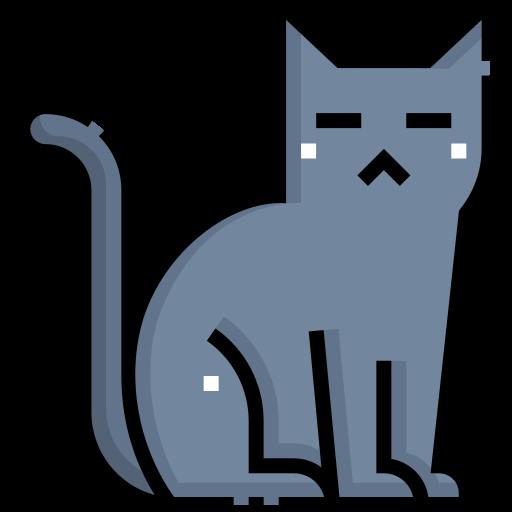 Black cat  free icon