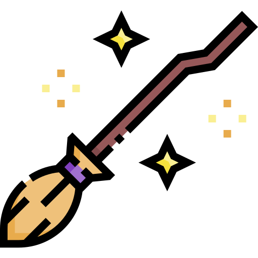 Witch broom  free icon