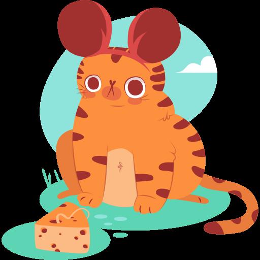 gato  gratis sticker
