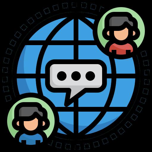 communication globale  Icône gratuit