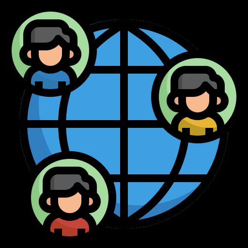 connexion mondiale  Icône gratuit