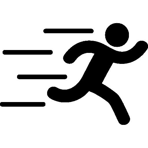 Runer silhouette running fast  free icon
