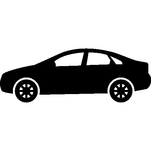 modelo de carro sedan  grátis ícone