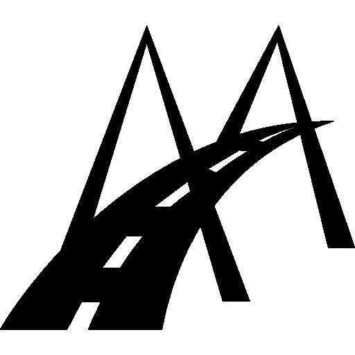 Modern bridge road symbol  free icon