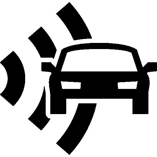 Car and radar security  free icon