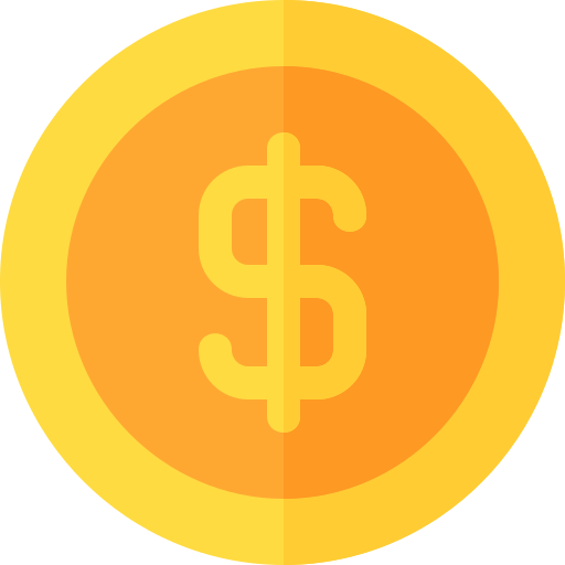 dólar  icono gratis