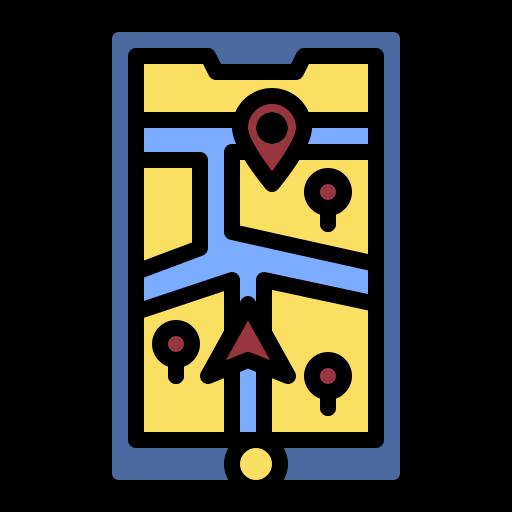 mapa e localização  grátis ícone