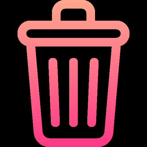 Trash bin  free icon