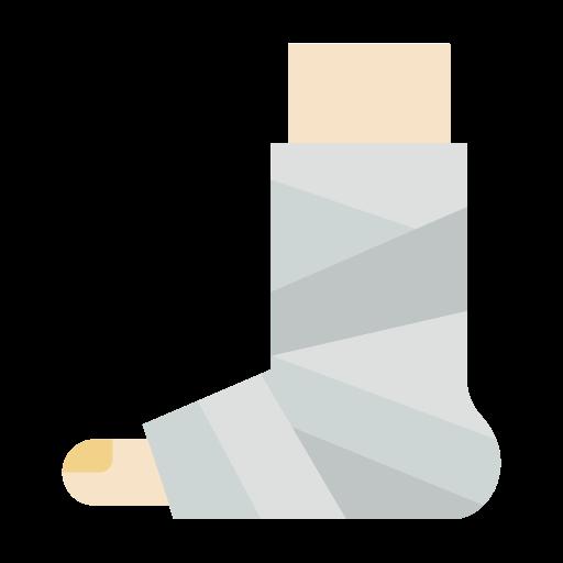 perna quebrada  grátis ícone