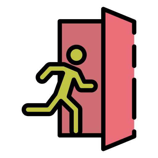 Emergency exit  free icon