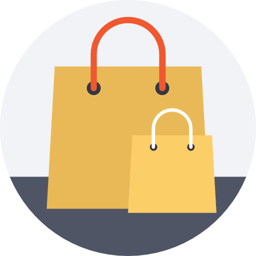 Shopping bags  free icon