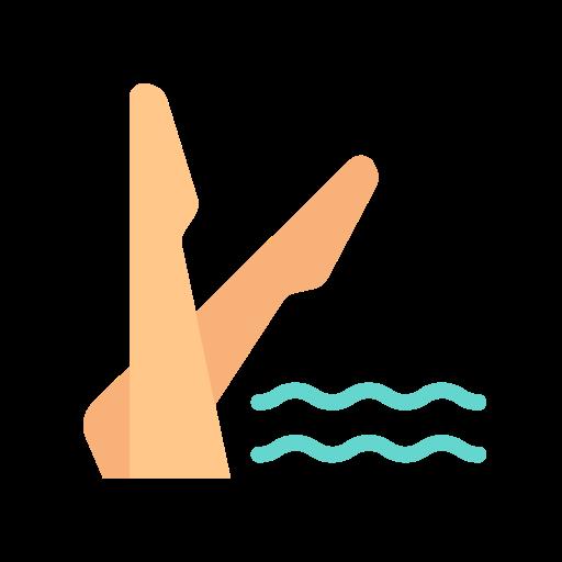 Synchronized swimming  free icon