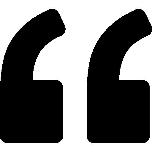 Left quote  free icon