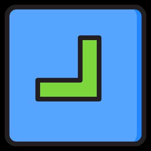 unten rechts  kostenlos Icon