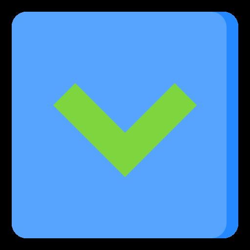 Down button  free icon