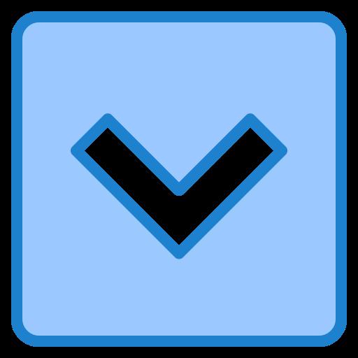 bouton bas  Icône gratuit
