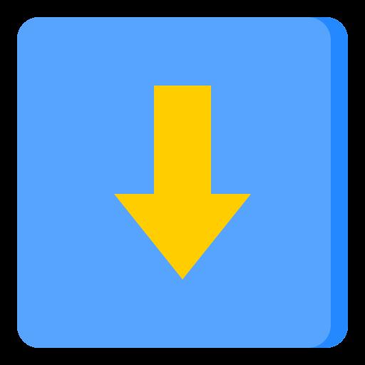Down arrow  free icon