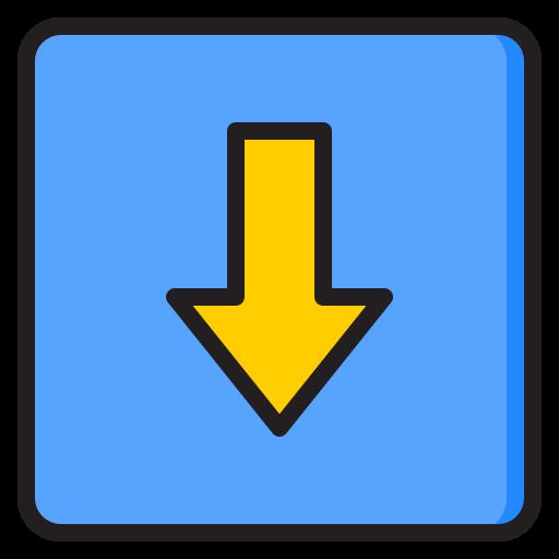 pfeil nach unten  kostenlos Icon
