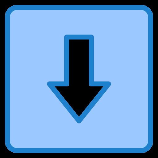 flèche vers le bas  Icône gratuit