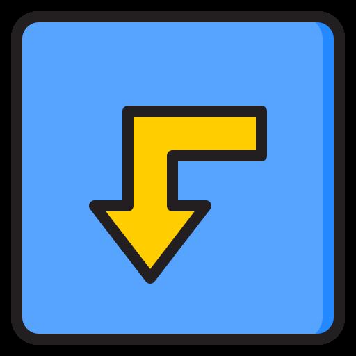 Turn left  free icon