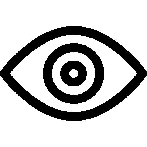 visión  icono gratis