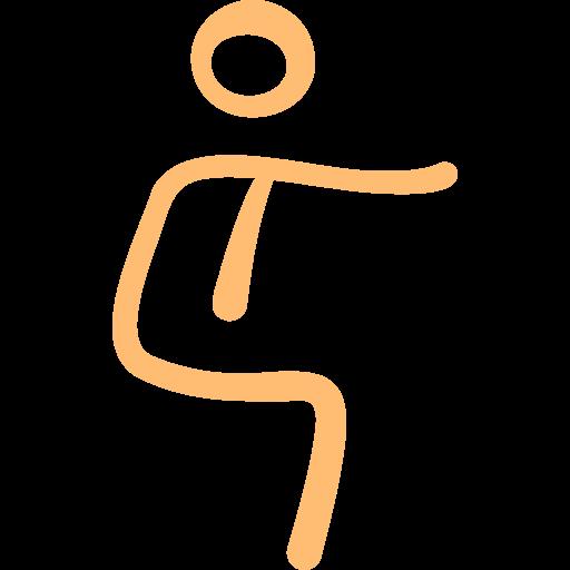 sentadillas  icono gratis