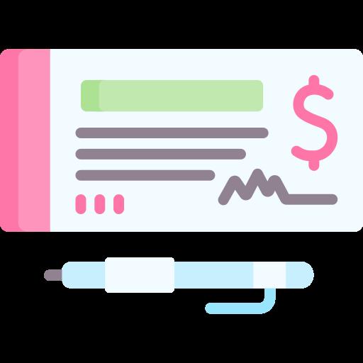cheque bancario  icono gratis