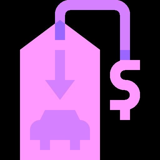bajo costo  icono gratis