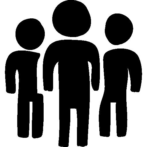 grupo de personas dibujadas a mano de personas  icono gratis