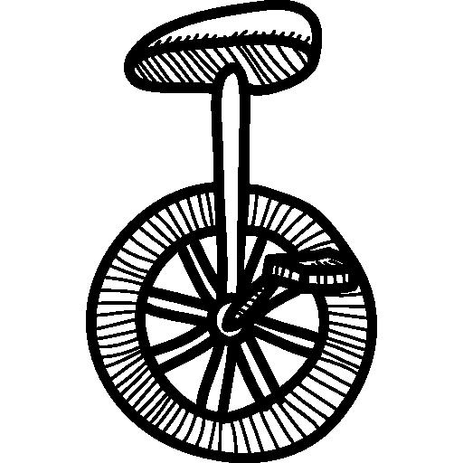 siège sur une roue de transport  Icône gratuit