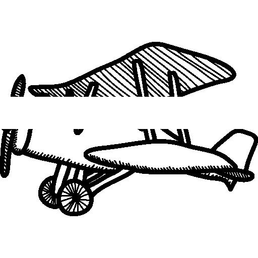 Маленький старинный самолет  бесплатно иконка